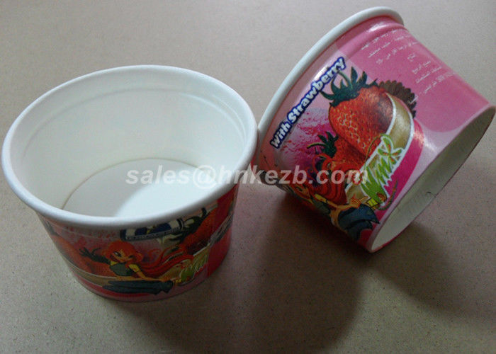 5oz Cartoon Color Ice Cream Paper Cups , Paper Ice Cream Bowls Eco Friendly