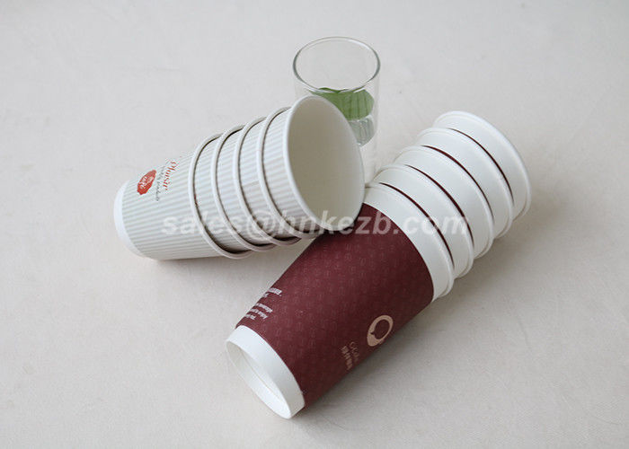 Double Wall Custom Coffee Paper Cups For Coffee Drinking Disposable